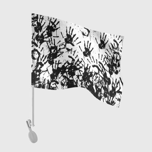 Флаг для автомобиля Отпечатки - DEATH STRANDING Фото 01