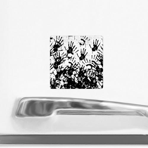 Магнит виниловый Квадрат Отпечатки - DEATH STRANDING Фото 01