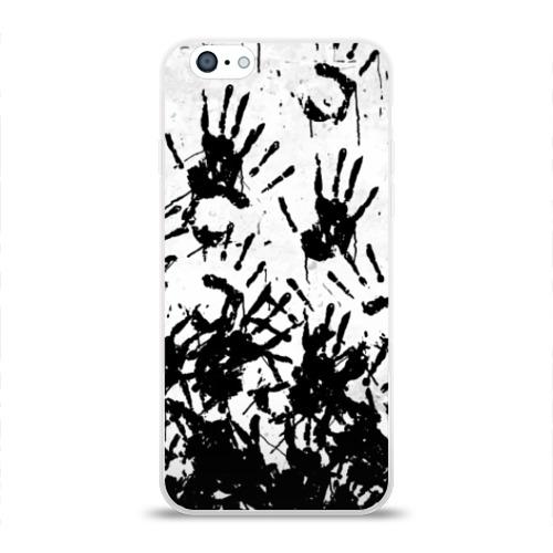 Чехол для Apple iPhone 6 силиконовый глянцевый Отпечатки - DEATH STRANDING Фото 01