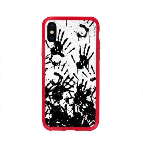 Чехол для Apple iPhone X силиконовый глянцевый Отпечатки - DEATH STRANDING Фото 01