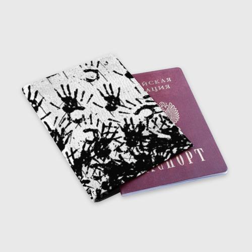 Обложка для паспорта матовая кожа Отпечатки - DEATH STRANDING Фото 01