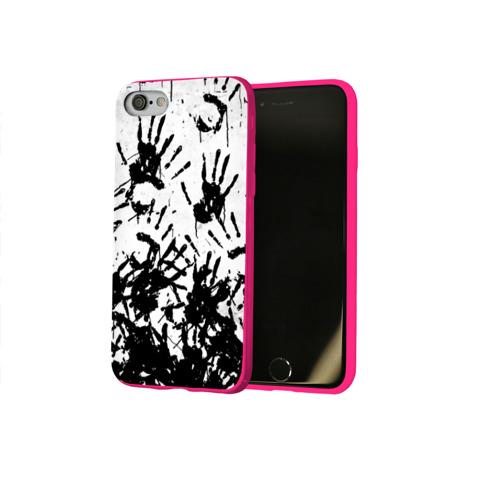 Чехол для Apple iPhone 8 силиконовый глянцевый Отпечатки - DEATH STRANDING Фото 01