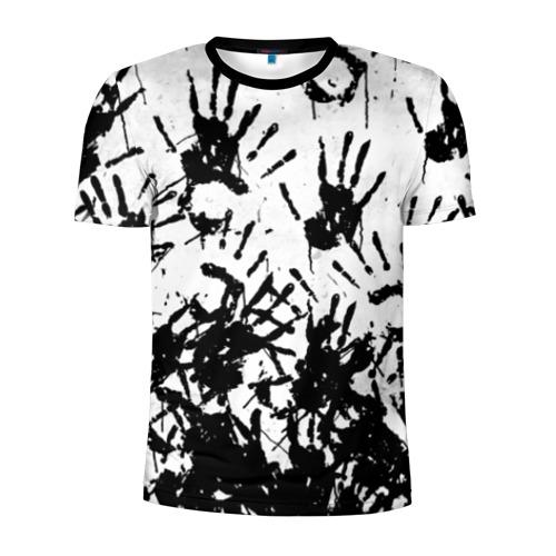 Мужская футболка 3D спортивная Отпечатки - DEATH STRANDING Фото 01