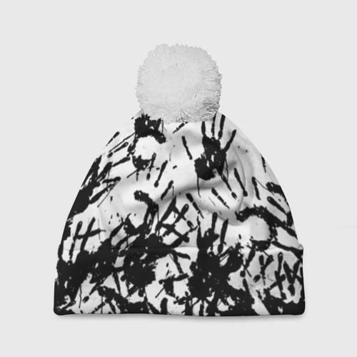 Шапка 3D c помпоном Отпечатки - DEATH STRANDING Фото 01