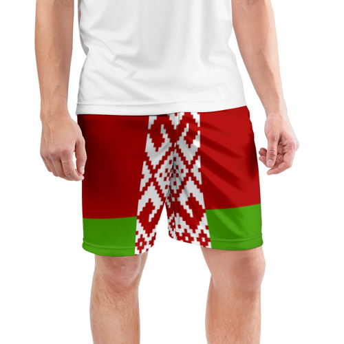 Мужские шорты спортивные Беларусь. Флаг. Фото 01