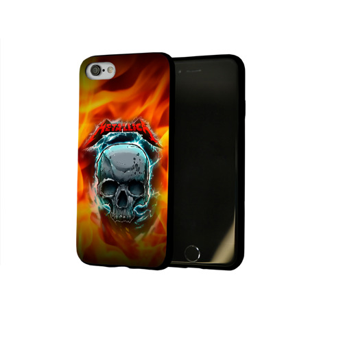 Чехол для Apple iPhone 8 силиконовый глянцевый Metallica Фото 01