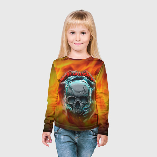 Детский лонгслив 3D Metallica Фото 01