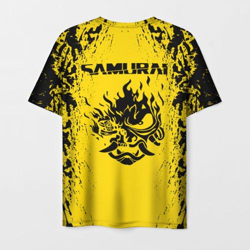 Мужская футболка 3D CYBERPUNK 2077 SAMURAI (НА СПИНЕ) Фото 01