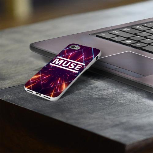 Чехол для Apple iPhone 8 силиконовый глянцевый MUSE Фото 01