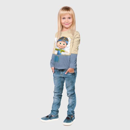 Детский лонгслив 3D  Фото 04, Маша и Медведь
