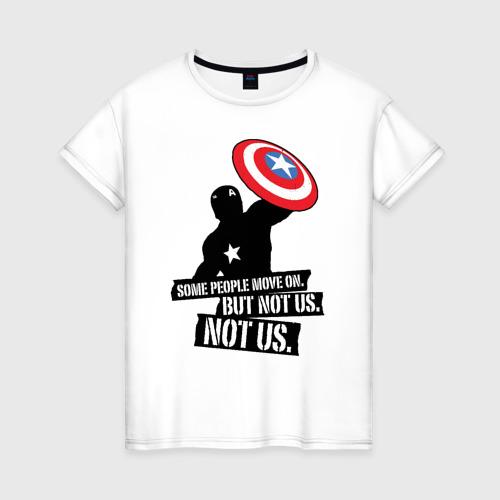 Женская футболка хлопок Captain America