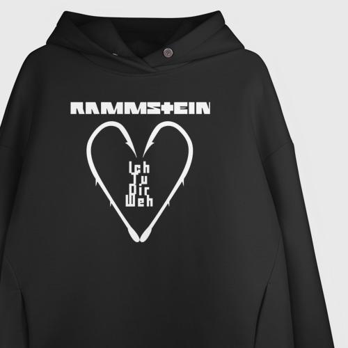 Женское худи Oversize хлопок Rammstein Фото 01