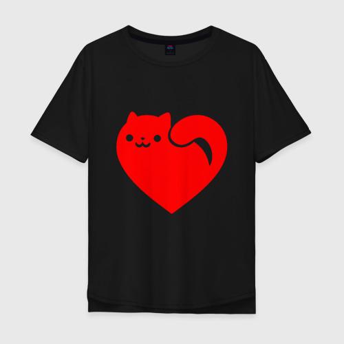 Футболка хлопок Оверсайз Love Cat