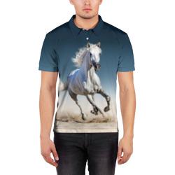 Серый в яблоках конь
