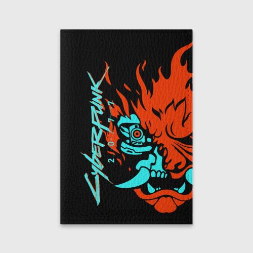 Обложка для паспорта матовая кожа Cyberpunk 2077 Фото 01