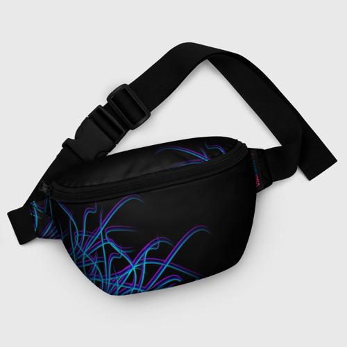 Поясная сумка 3D Неоновые Щупальцы Фото 01
