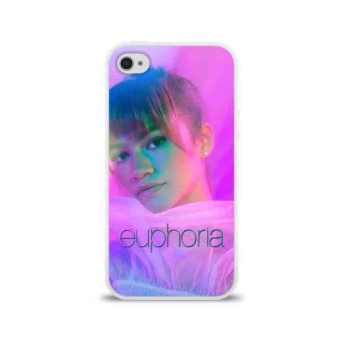 Чехол для Apple iPhone 4/4S силиконовый глянцевый сериал Euphoria Фото 01