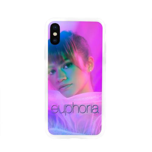 Чехол для Apple iPhone X силиконовый глянцевый сериал Euphoria Фото 01