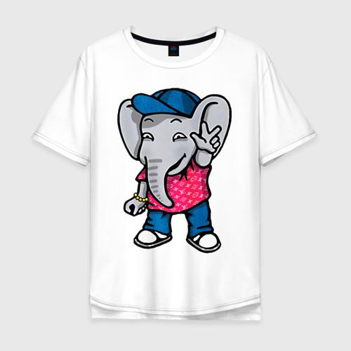 Мужская футболка хлопок Oversize Денди Слон Dendy the Elephant