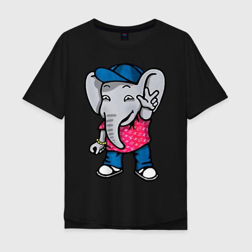 Футболка хлопок Оверсайз Денди Слон Dendy the Elephant