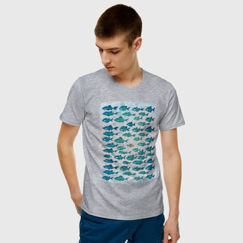 Мужская футболка хлопок Меланхолично-скептичные рыбы Фото 01