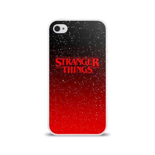 Чехол для Apple iPhone 4/4S силиконовый глянцевый STRANGER THINGS Фото 01