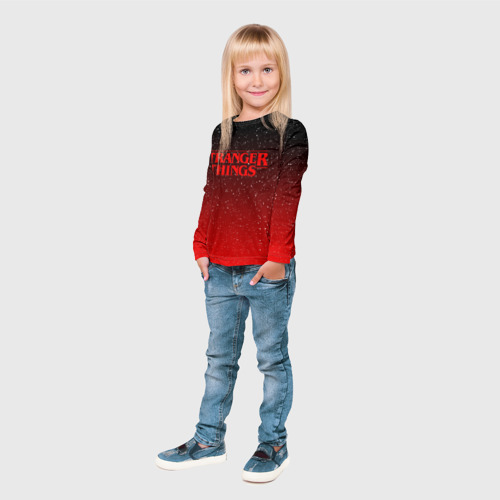 Детский лонгслив 3D STRANGER THINGS Фото 01
