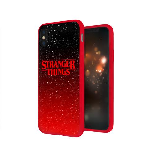 Чехол для iPhone X глянцевый STRANGER THINGS Фото 01