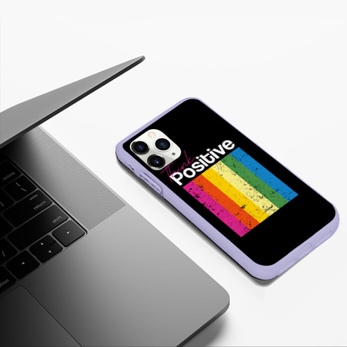 Чехол для iPhone 11 Pro Max матовый Think positive Фото 01