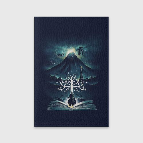 Обложка для паспорта матовая кожа The Lord of the Rings Фото 01