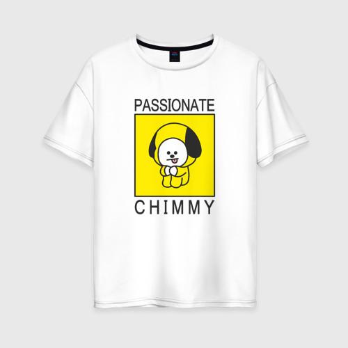 Женская футболка хлопок Oversize PASSIONATE CHIMMY [BTS] Фото 01