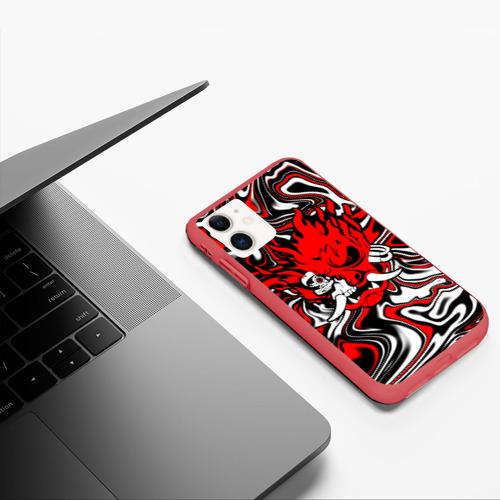 Чехол для iPhone 11 матовый Cyberpunk 2077 Фото 01