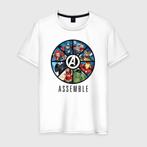 Мужская футболка хлопок Avengers assemble