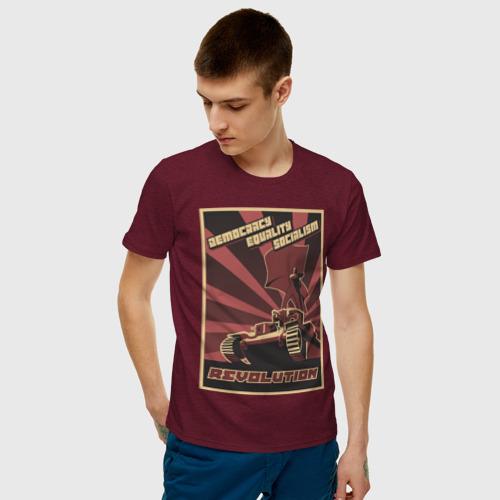 Мужская футболка хлопок Revolution Плакат СССР Фото 01