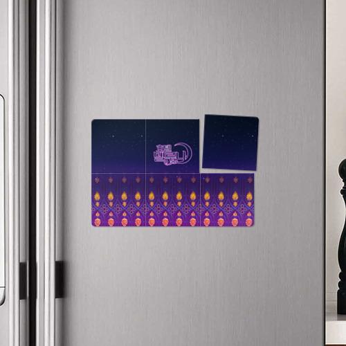 Магнитный плакат 3Х2 Отель Дель Луна узор Фото 01