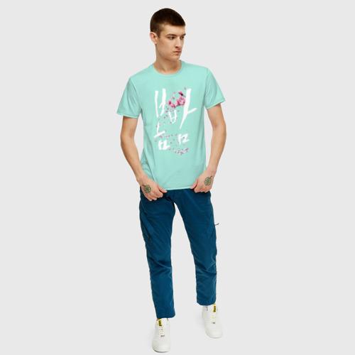 Мужская футболка хлопок Дорама Весенняя ночь Фото 01