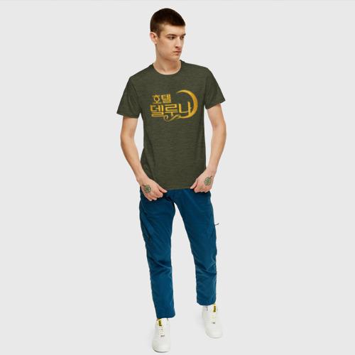 Мужская футболка хлопок Отель Дель Луна логотип Фото 01