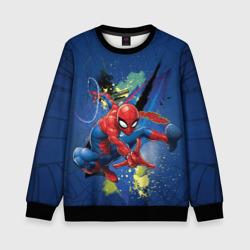 Spider-man with a spiderweb