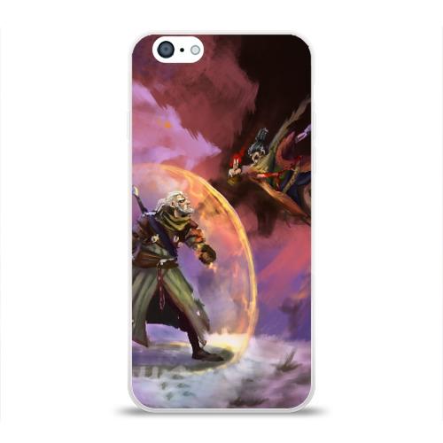Чехол для Apple iPhone 6 силиконовый глянцевый Ведьмак и Секиро Фото 01