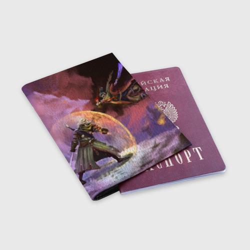 Обложка для паспорта матовая кожа Ведьмак и Секиро Фото 01