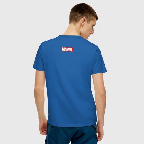 Мужская футболка хлопок Человек-паук и город Фото 01