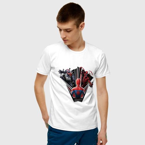 Мужская футболка хлопок Venom, Carnage vs Spider-man Фото 01