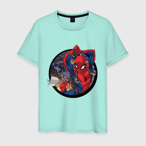Мужская футболка хлопок Flying Spider-man Фото 01