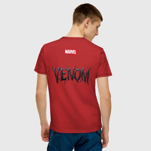 Мужская футболка хлопок Venom with tongue sticking out Фото 01