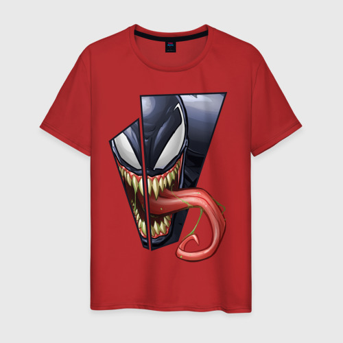 Venom with tongue sticking out