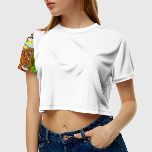 Женская футболка Crop-top 3D MY LITTLE MINECRAFT Фото 01