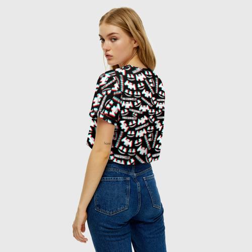 Женская футболка Crop-top 3D MARSHMELLO GLITCH Фото 01