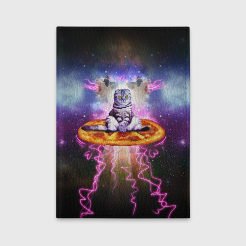 Обложка для автодокументов  Фото 01, Кот на пицце