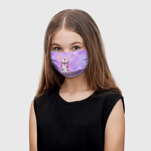Детская маска (+5 фильтров) Ангелок корги Фото 01