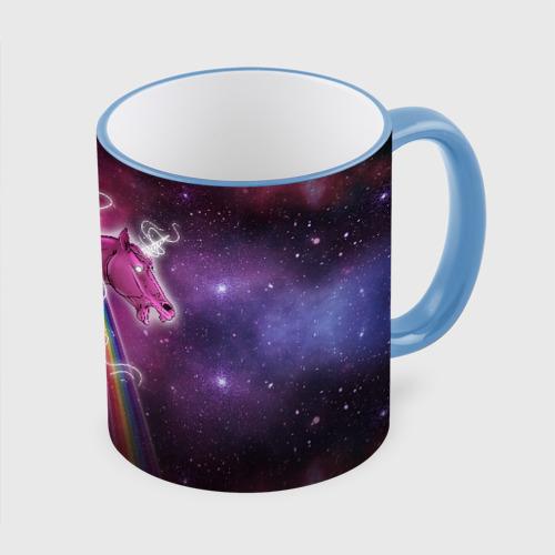 Кружка с полной запечаткой Единороги в космосе